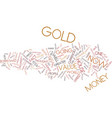 gold is golden text background word cloud concept vector image