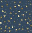 golden stars pattern seamless vector image vector image