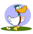Goose Laying Eggs vector image