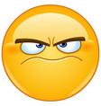 grumpy emoticon vector image vector image