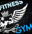 gym training symbol vector image vector image