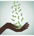 hand catch the money vector image
