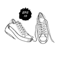 hand drawn graphic sport shoes vector image vector image