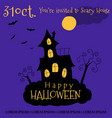 happy halloween invitation card design vector image vector image