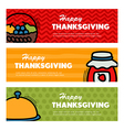 Happy Thanksgiving day Three banners vector image vector image