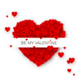 happy valentines day greeting card cover template vector image