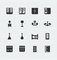 home furniture mini icons set 2