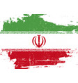 iran scratched flag vector image vector image