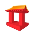 Japanese roof cartoon icon vector image
