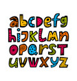 kids font in cartoon style alphabet vector image