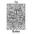 letter tarot card from lenormand gothic vector image