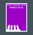 man meets the sea jutland denmark monument vector image