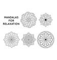 mandalas patterns vector image