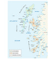 map scottish archipelago hebrides at north vector image vector image