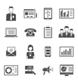 Marketing Black Icons vector image vector image