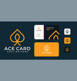 minimalist ace logo and business card design