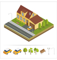 Modern House Modern Home Isometric Cottage vector image