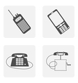 monochrome icon set with phone vector image