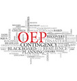 oep word cloud concept vector image vector image