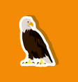 paper sticker on stylish background eagle vector image vector image