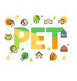 pet shop signs concept card poster vector image vector image