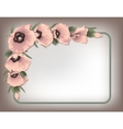Pink poppies floral frame vector image