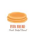 pita bread icon vector image vector image