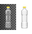 plastic bottle oil package realistic empty mockup vector image vector image