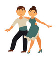 professional cha-cha dancers in traditional vector image