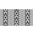 rectangular seamless boho print design vector image