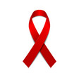 red ribbon isolated on white background vector image vector image