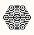 sacred geometry 0072 vector image vector image