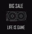 sale life is a game contour drawing of a video vector image