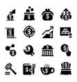 saving money icon set vector image vector image