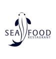 sea food restaurant and fish logo vector image vector image