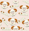 seamless pattern square cartoon white shee vector image vector image