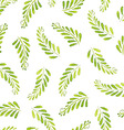Seamless Patterns with watercolor leaves vector image vector image