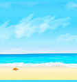 seashore and starfish sky and clouds vector image