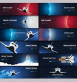 set of space banners space shuttle mars earth vector image vector image