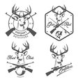 set vintage hunting and fishing labels vector image vector image