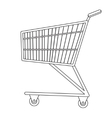 Shopping carts icon line sketch doodle style vector image