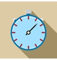 Stopwatch icon in flat style vector image vector image