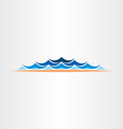 summer water waves design symbol vector image vector image