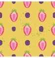 Sweet berry seamless pattern vector image vector image