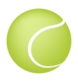 Tennis ball on white background vector image vector image
