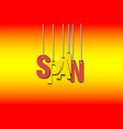 the word spain hang on the ropes vector image vector image