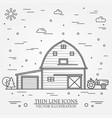 thin line american farm icon vector image