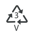 v 3 recyclable product symbol plastic recycling
