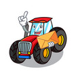with envelope tractor character cartoon style vector image vector image