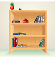 Wooden shelf vector | Price: 1 Credit (USD $1)